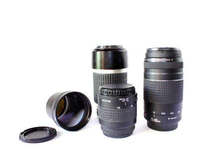 telephoto: Different Types of Camera Lenses Stock Photo
