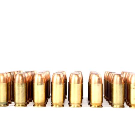 Isolated 380 Caliber Handgun Ammo