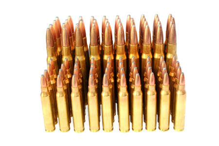 223 and  306 Cartridge Rifle Ammunition Stock Photo