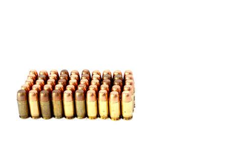 Isolated full metal jacket 380 caliber handgun ammo photo