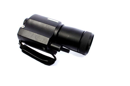 Isolated black monocular night vision scope to see in the dark