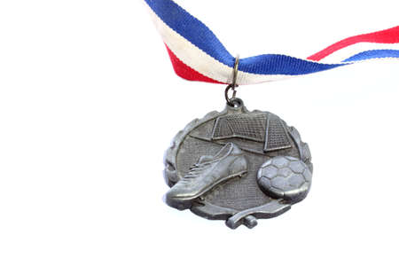 silver medal: Silver Soccer Medal Stock Photo