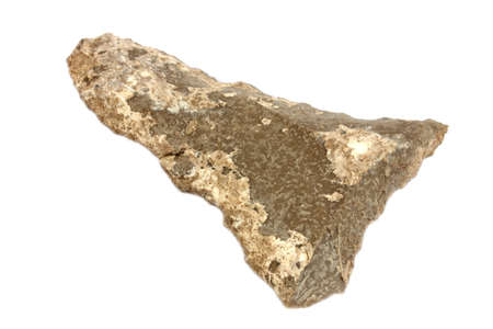 Isolated arrowhead used by native Americans for hunting   photo