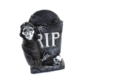 Isolated RIP gravestone used as decoration for halloween Stock Photo