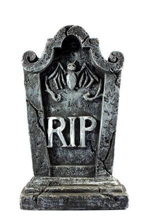 Isolated RIP Grabstein als Dekoration für Halloween verwendet Standard-Bild - 15392760