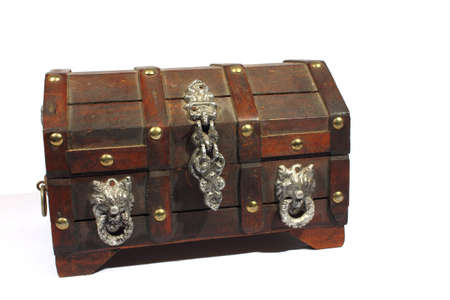 Isolated treasure box that can hold jewelry, coins, or other treasure  photo