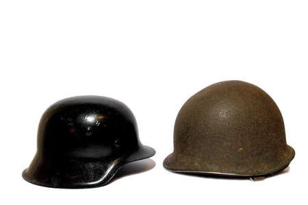 Isolated world war two army helmets from the Axis and Allied powers   Stock Photo - 16847461