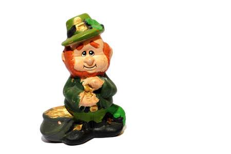 patrick's: Isolated St Patricks day home made  Leprechaun