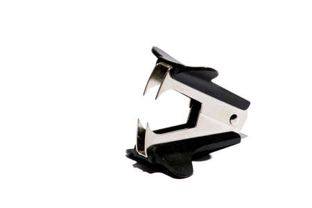 Isolated staple puller used to pull out staples   photo