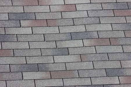 A close up view of shingles on a roof photo
