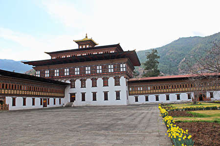 Bhutan: Government building in Bhutan Editorial