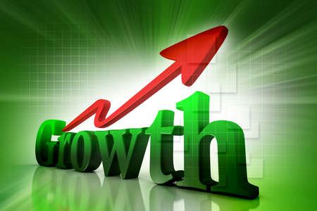 Digital illustration of  growth in colour background Stock Illustration - 13971908