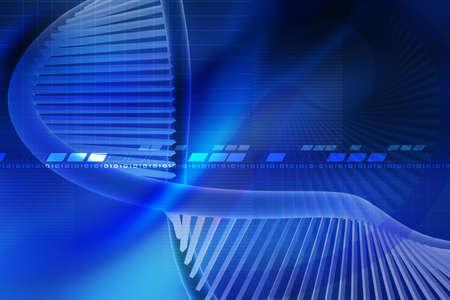 Digital illustration of  a dna in white background  Reklamní fotografie