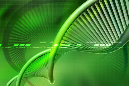 raytrace: Digital illustration of  a dna in white background  Stock Photo