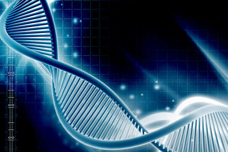 Digital illustration of  a dna in white background  illustration