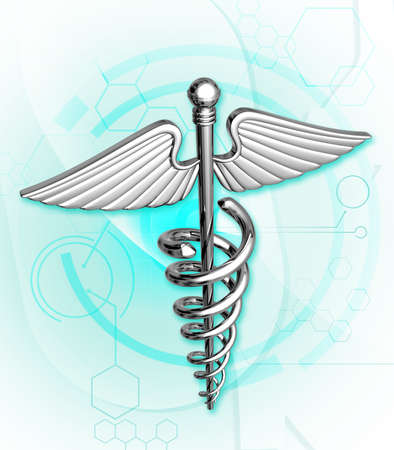 Digital illustration of medical  symbol in colour background  Stock Illustration - 14076611