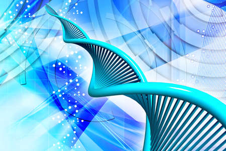 Digital illustration of  a dna in digital background  illustration