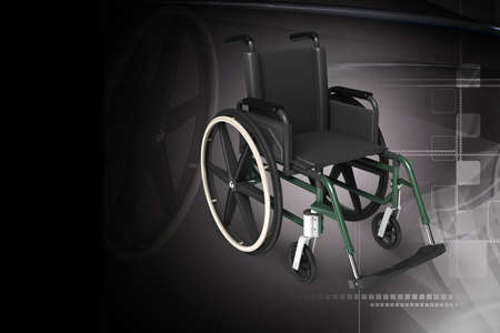 Digital illustration of Wheel chair in colour background Stock Illustration - 21047186
