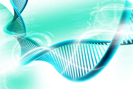 dna strand: Digital illustration of  a dna in white background  Stock Photo