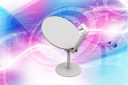 parabolic mirror: Digital illustration of Satelite dish in colour background