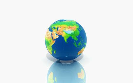 Digital illustration of Globe in white background Stock Illustration - 14769139