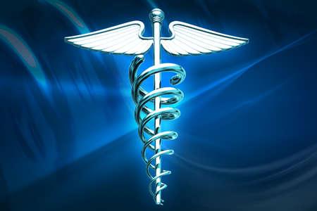 Digital illustration of medical  symbol in colour background Stock Illustration - 15323883