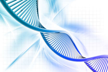 Digital illustration of a dna in white background Stock Illustration - 15690643