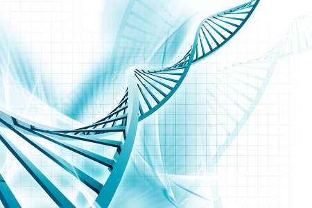 Digital illustration of a dna in white background Stock Illustration - 15690641