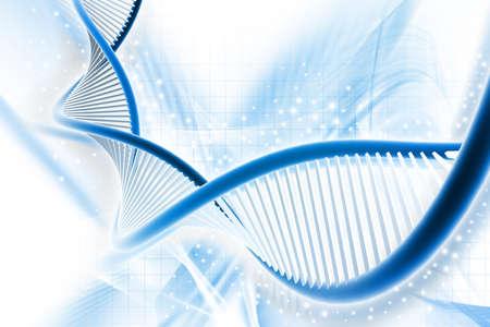 Digitale illustratie van een DNA in digitale achtergrond