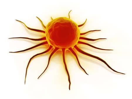 Digitale Illustration der Krebszelle in Farbe Hintergrund