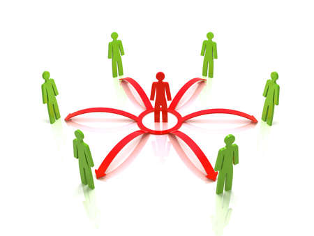 net book: virtual community communicated through social networks Stock Photo