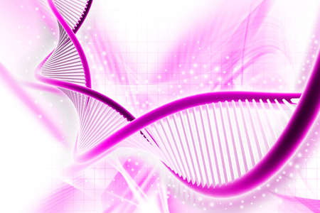 Digital illustration of a dna in white background