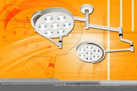 Digital illustration of Operation theatre light Stock Illustration - 20782211