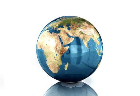 digital illustration of globe in white background Stock Illustration - 20753433