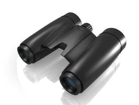 digital illustration of Binoculars in white background Stock Illustration - 16946897