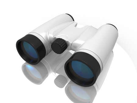 digital illustration of Binoculars in white background Stock Illustration - 16946898