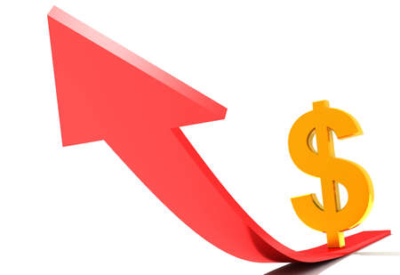 digital illustration of a dollar in digital background illustration