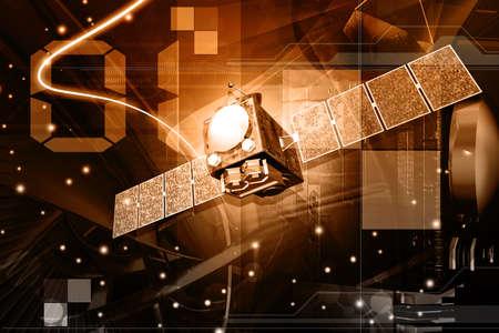 satelite: digital illustration of satelite in digital background