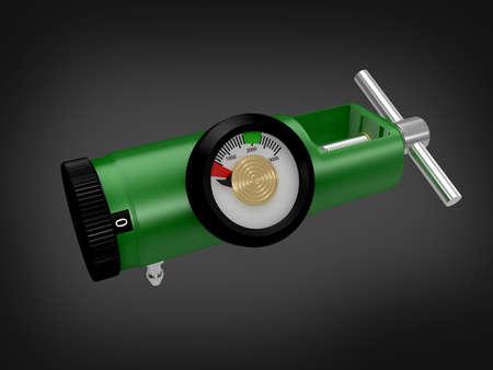 regulator: oxygen regulator in colour background