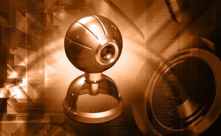webcam: webcam in digital background Stock Photo
