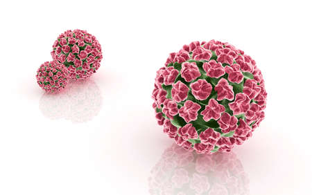 Digital illustration of papilloma virus Stock Photo