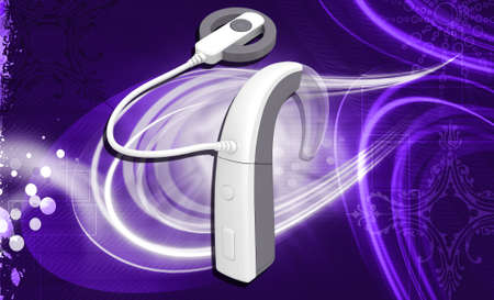 cochlear: Cochlear Implant in colour background