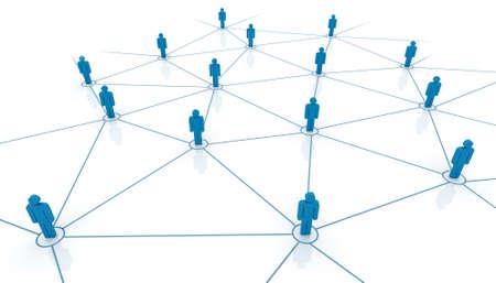 Network concept  Connect people  Business team illustration  Reklamní fotografie