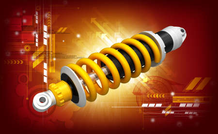 shock absorber car  done in 3d, isolated Stock Photo - 21523823