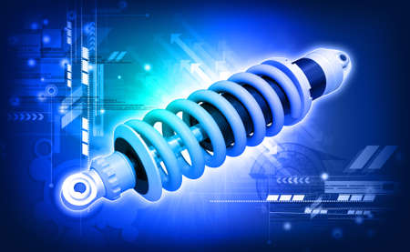 shock absorber: shock absorber car  done in 3d, isolated  Stock Photo