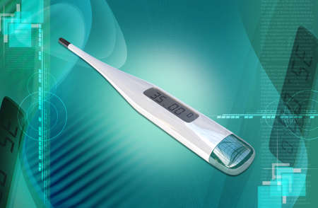 digital thermometer: Digital thermometer on a white background  Stock Photo