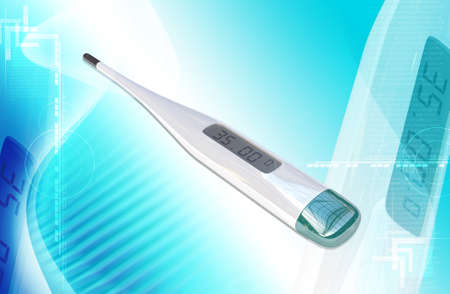 Digital thermometer on a white background  photo