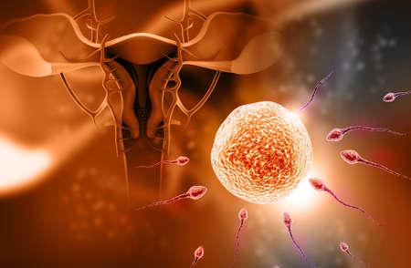 reproductive technology: Ilustraci�n digital de espermatozoides en el color de fondo Foto de archivo