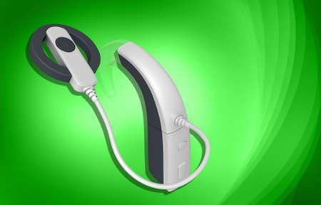 Cochlear Implant in colour background Reklamní fotografie - 21914678