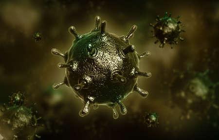 avian: Digital illustration of avian virus in colour background